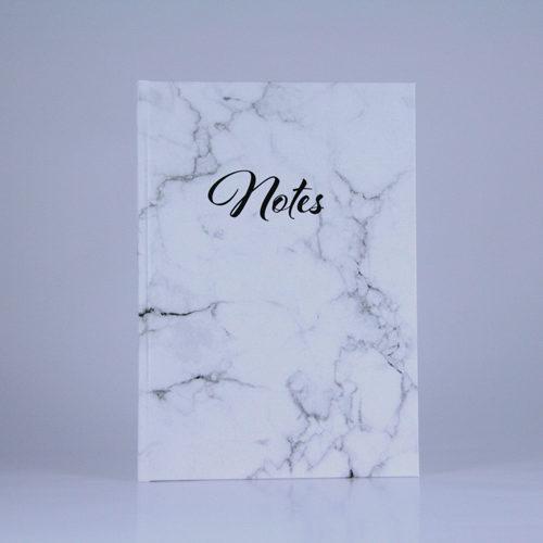 """Notizbuch """"marble white"""" Marmor weiß Planyourlife schwarze Schrift"""