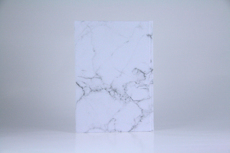 "Notizbuch ""marble white"" Marmor weiß Planyourlife"