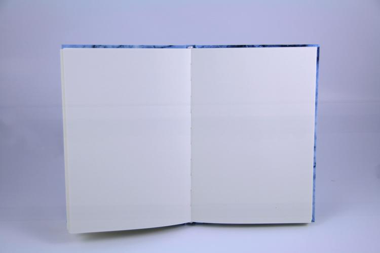 Notizbuch Marmor blau Planyourlife blanko